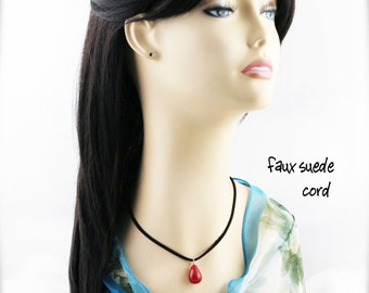 Red candy quartzite (unisex) necklace