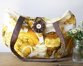 Vintage Kitchen Teapot Tote Market Bag