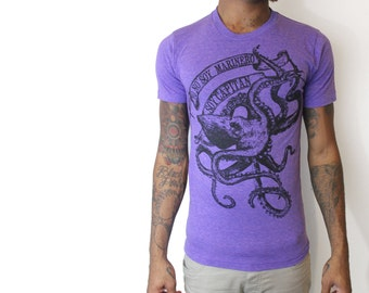 La Bamba octopus Shirt-  Mens T Shirt, Unisex Tee, Tri Blend Tee, Handmade graphic tee, sizes xs-xxl