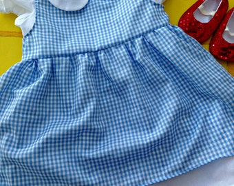 Dorothy Wizard of Oz Dress Sizes 0-18 months PERFECT FOR HALLOWEEN
