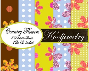 Country Flowers Paper Pack 12x12 inch - No.127