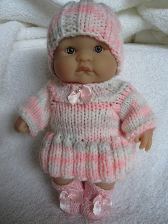 Knitting Patterns For 8 Berenguer Doll Clothes : Knit Doll Clothes for 8 inch Chubby Berenguer Baby Doll