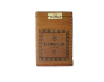 Vintage Wooden Cigar Case El Producto