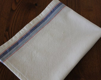 Cotton Striped Tea Towel in Blueberry - Select Your Length
