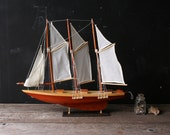 Sailboat Model Three Masts Working Action Delicate From Nowvintage on Etsy