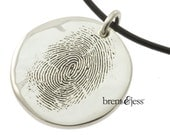 Finger Print Necklace in Sterling Silver