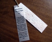 Seed Paper Personalized Bookmark - Plantable Seed Paper Wedding Bookmark - Seeded Bookmark Favor
