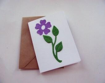 Plantable Seed Paper Blank Notecard - Seed Paper Blank Note Card - Plantable Card