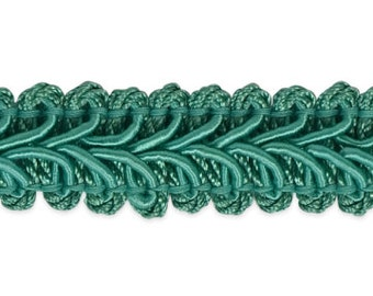 90 cents/yard -- 3 yards Turquoise Gimp Trim -- 1/2 inch gimp trim -- great for wipes cases