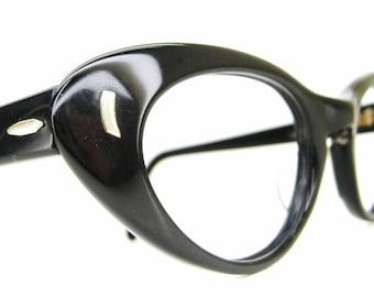 Vintage Black Cats Eye Eyeglasses Sunglasses Frame