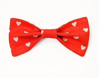 Red Hair Bow Clip Hearts Hair Bow Kawaii Bows for Girls Teens Women Hair Bow Clip Small Love Bows Cute Hair Accessories