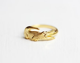 Alligator Ring Gold, Gold Alligator, Gator Ring, Florida Ring, Gold Ring, Adjustable Gold Ring, Animal Ring, Gold Animal Ring, Reptile Ring
