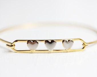 Three Hearts Bracelet
