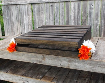 Rustic Wedding Decor - Wood Cake Stand - Fall Weddings - Crate Style Wedding Cake Stand