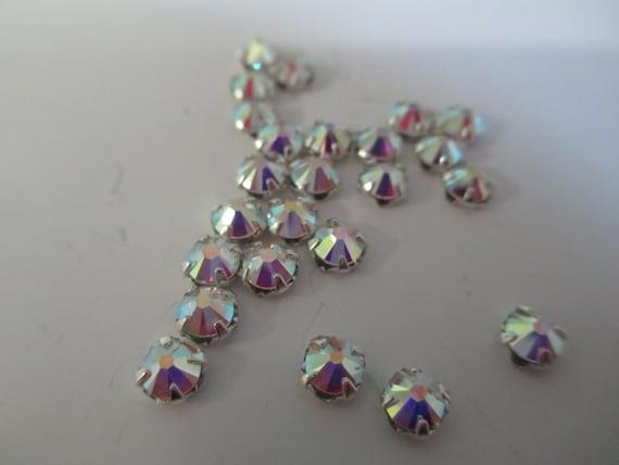 3.9mm Clear AB 24pk Montee Swarovski Crystal