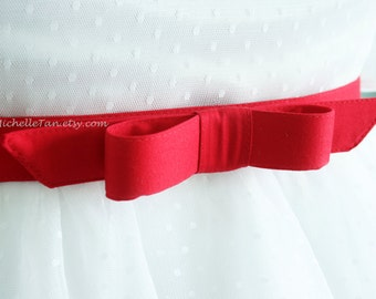 red bow belt , custom made belt, red belt, retro belt, vintage inpired belt , plus size belts  - custom SIZES and COLORS available