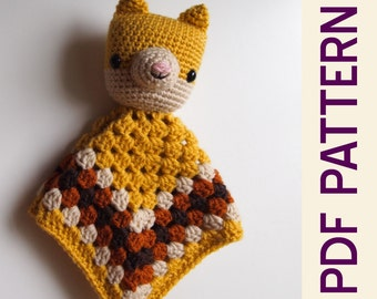 Amigurumi Kitty Cat Security Blanket Lovey Crochet Doll PDF Pattern