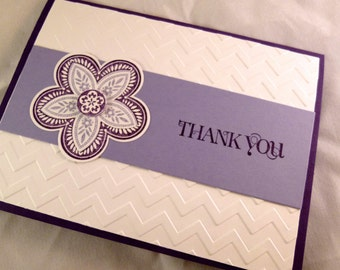 Chevron Blank Thank You Notes Set of 10