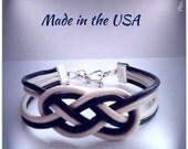 Double Infinity Knot Bracelet, Love Bracelet, Cuff Bracelet, Friendship Bracelet