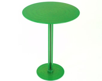 Dark Lime Green Side Table