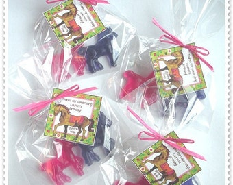 Horse Lover Pony Equestrian Favors Handmade Soap (20 complete favors with tags-40 soaps)