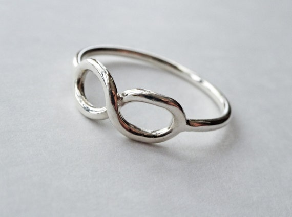 infinity knot ring solid sterling silver by