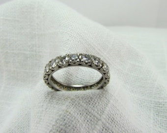 Circa 1950 2.00 Carat TDW Diamond and Platinum Eternity Band