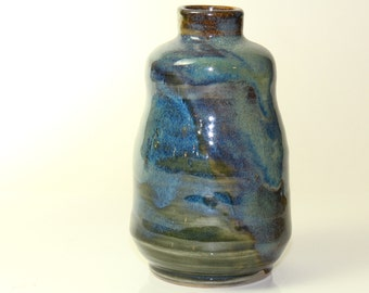 Bottle Ceramic Blue Serenity Bottle