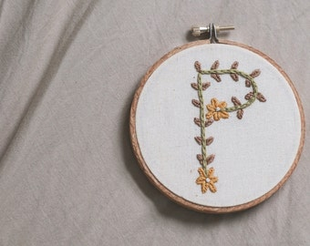 custom embroidered initial wall decor
