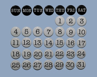 Perpetual Magnetic Calendar - Set of 38 Magnets 1 inch