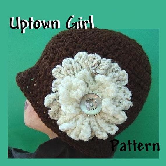 INSTANT DOWNLOAD Crochet Pattern PDF 33, Uptown Girl Brown Cloche or Newsboy