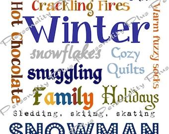 Winter Subway Art. Instant Download.  High Resolution JPG.  Printable DIY