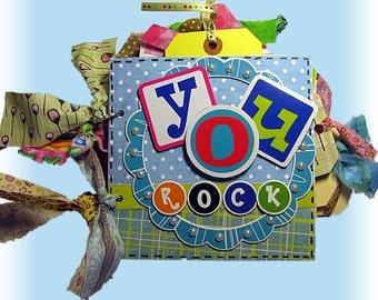 Girl Mini Scrapbook. Girl Album, You Rock, Cool Teen Scrapbook, Home and Living, Art, Photo Album, Journal