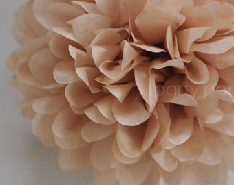 Tan tissue paper pom .. nursery decor / wedding decor