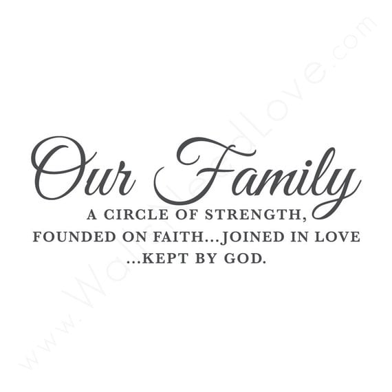 Our Family: Faith Love God Quote