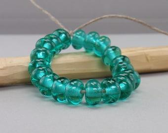 25 % off - 20 Spacer  - Handmade Lampwork Beads - S 11