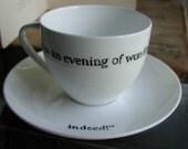Jane Austen teacup and saucer