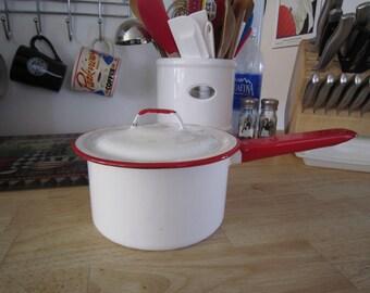 Enamelware Sauce/Cooking Pot