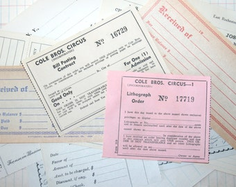 10 Pieces Lovely Vintage Business Forms Ephemera
