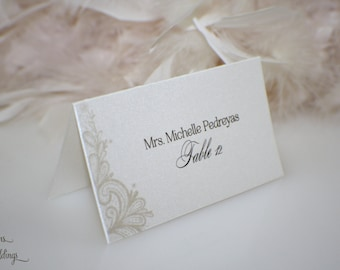 Lace Graphic place cards escort cards
