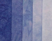 Hand Dyed Fabric - Periwinkle -  Shades