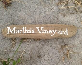 Martha's Vineyard Driftwood Sign