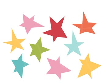 Stars Digital Clipart Clip Art Illustrations - instant download - limited commercial use ok