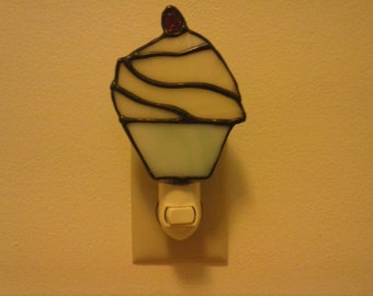 Stained Glass Cupcake Nightlight