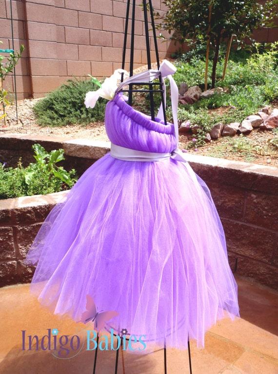 Items similar to Tutu Dress, Flower Girl Dress, Lavender Tulle ...
