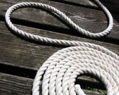 1/2 inch - 25ft or 20ft -  Off White (Cream) - Navy Blue Rope - Cotton Rope - DIY Wedding Decor - DIY Nautical Decor - Cream Rope