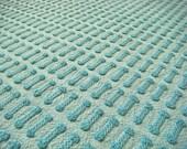 Morgan Jones Aqua Buttonhole Vintage Chenille Fabric - AlorasAdorables