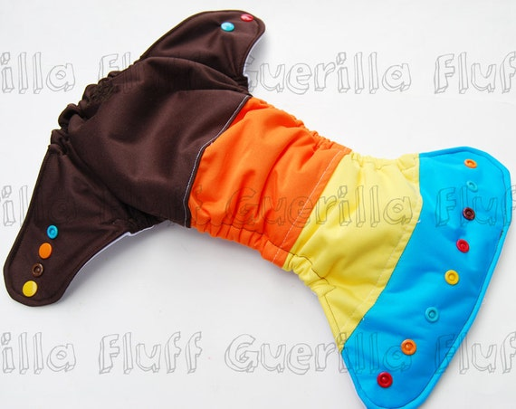 Large Scrappy Pocket Diaper + Insert
