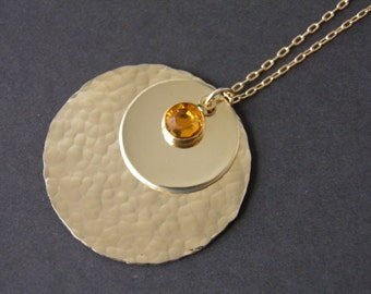 Kate Necklace - The Kate Disc Necklace - Duchess Jewelry
