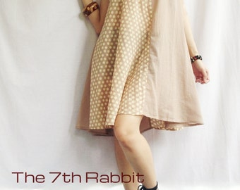 Relaxzy Dress...Organic Cotton Vanilla Cream Colour (1)